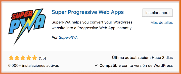 Plugin Super PWA
